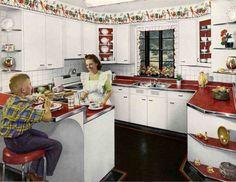 Retro Red Kitchen