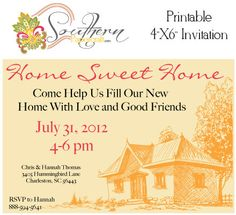 Printable Customized House Warming Party Invitation