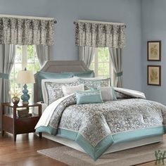 Madison Park Essentials Brystol 24 Piece Room in a Bag https://www.gifts4younme.com/bedding-collection/21479-brystol-24-piece-room-in-a-bag-blue.html via @eBay #bedinabag #comforter #bedding #curtain #bedroom #redcomforter #bluecomforter  #Tealcomforter #madisonpark