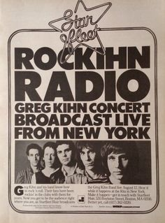 The Greg Kihn Band Promotional Ad
