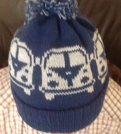 knitted Hat Beanie Camper Van  made to order any color