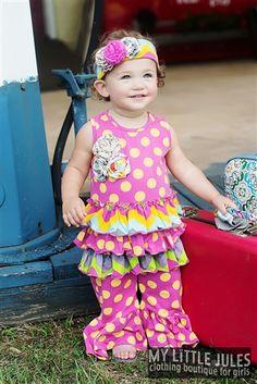 Mustard Pie Clothing Road Trip Emma Romper Fruity Spring 2014 size 18m