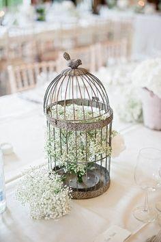 Wedding decor table bird cage