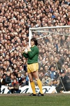 15th April 1972. Goalkeeper David Harvey in action against Birmingham City in the FA Cup Semi Final, at Wembley.