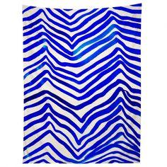 Rebecca Allen A Zebra In Crete Tapestry | DENY Designs Home Accessories