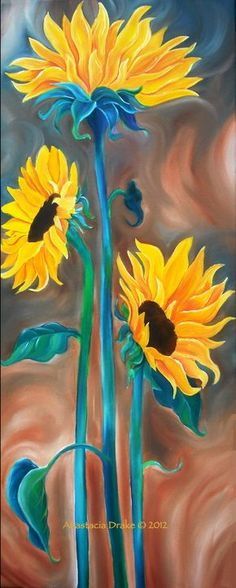 Just The Three Of Us Oil On Canvas Art Painting Strokeofredstudio 2 Sunflower Art, Love Art, Painting Inspiration, Art Lessons, Painting & Drawing, Canvas Art, Painting Canvas, Oil On Canvas, Art Drawings