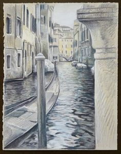 Travel Drawing: Venice, Italy Prismacolor Pencil on gray paper x 2017 Travel Drawing, Prismacolor, Venice Italy, Pencil Drawings, United States, Gray, Paper, Artwork, Work Of Art