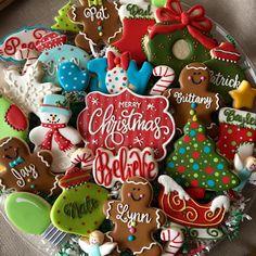 #christmascookies #customcookies Christmas Cookies Packaging, Christmas Sugar Cookies, Christmas Gingerbread, Holiday Cookies, Christmas Baking, Christmas Desserts, Holiday Baking, Fun Cookies, Cupcake Cookies