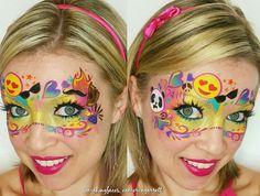 Emoji mask using graffiti eyes emoji stencils ❤