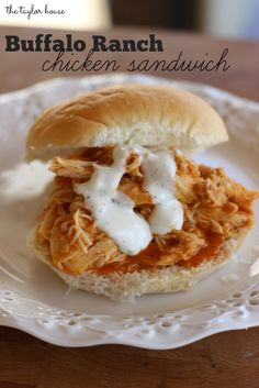 The Taylor House | Buffalo Ranch Chicken Sandwich | http://www.thetaylor-house.com