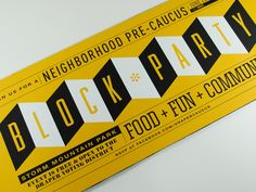Neighborhood Block Party Invitation {love the type combination  colors} // mCroxton Design