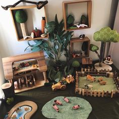 Small World Play brings forth something that is in our souls, storytelling. Play Spaces, Learning Spaces, Baby Room Ideas Early Years, Curiosity Approach, Childcare Rooms, Small World Play, Play Based Learning, Classroom Design, Creative Play
