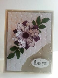 Stampin' Up! Thank You Card by Brenda R: beautiful bunch (image only)