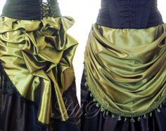 Victorian Steampunk Bustle Overskirt Apron by handmadebyreplay
