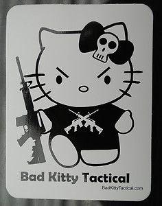 Hello Kitty Gun Sticker! Bad Kitty Tactical