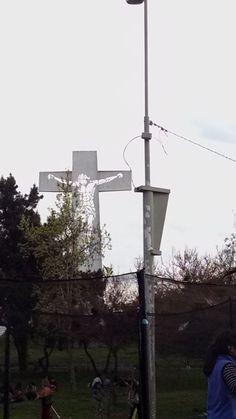 Cruz ubicada en Cerro Primo de Rivera, Maipú, Santiago de Chile
