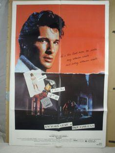 Original Movie Poster Breathless  Richard by MoviePostersAndMore, $14.99