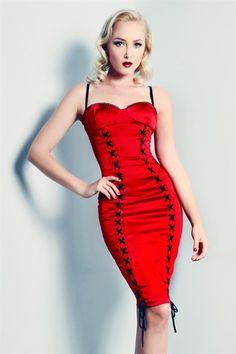 a61af64168611 DR-W10D010-RED - LA DOLCE VITA DRESS