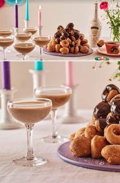 A vegan Baileys Almande martini is the ultimate post-dinner indulgence. Pair with yummy vegan doughnuts for a true celebration with a novel twist.  Follow the link for recipe & method. #Ad #VeganWedding #ColourfulWedding #WeddingTrends2019 #WeddingIdeas #WeddingInspiration #CocktailsAndDessert #WeddingCocktails #AfterDinnerDrink #VeganFood #VeganCocktails #VeganRecipes #VeganDesserts #VeganPudding #VeganTreat #BaileysCocktail #VeganBaileys #BaileysAlmandeCocktail Vegan Treats, Vegan Desserts, Vegan Recipes, Vegan Baileys, Cocktail Recipes, Cocktails, Vegan Doughnuts, Vegan Pudding, Cocktail