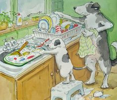 Anita Jeram - gee, I try to get my dogs to do this but they just won't try...