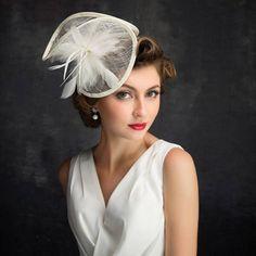 Handmade Fascinator Hat, Tea Party Hat, Church Hat, Derby Hat, Fancy Hat, wedding hat, British Hat Kentucky Derby Hat 3851 by sdtxlsd on Etsy