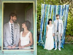 streamers wedding love couple