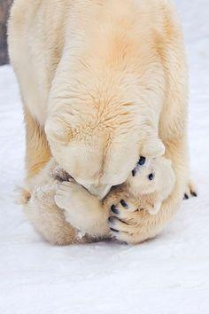Cuidando do bebê.