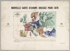 "nemfrog: ""A satiric map of Europe. Carte drolatique d'Europe pour 1870. Rumsey. """