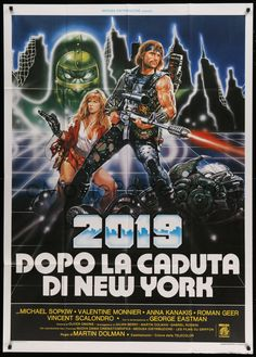 eMoviePoster.com Image For: 4f067 AFTER THE FALL OF NEW YORK Italian 1p '84 completely different sci-fi art by Renato Casaro!