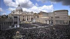 Piazza San Pietro. This is a square in Vatican City. The St. Peter's Basilica is located on the square. It was designed by Gian Lorenzo Bernini