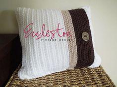 Cojín de canalé Cubierta :: Crochet Pattern Pillow