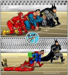 Interesting idea that even superheroes have weaknesses