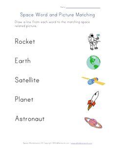 space matching worksheet