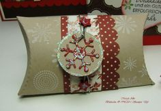 Christmas Pillow Box by MargitsSchatztruhe - Cards and Paper Crafts at Splitcoaststampers