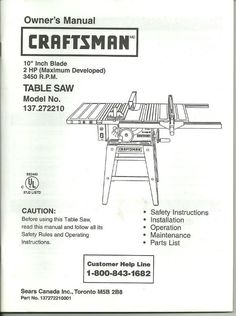 ryobi table saw instructions