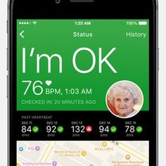 Elder Check Now is a monitoring app for seniors. It is compatible with the Apple watch. -Courage Kenny Rehabilitation Institute
