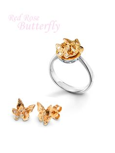 2014 Spring Limited Collection: Red rose gold butterflies. Charlotte Ehinger-Schwarz 1876