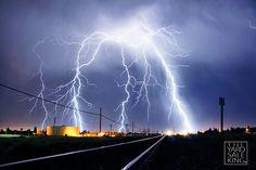 Bakersfield Personal Injury Lawyer | http://www.robertreeveslaw.com/locations/bakersfield-personal-injury-lawyer | Lightning on Train Tracks - Bakersfield, CA