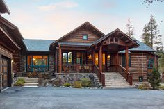 Morning Star Lodge is a beautiful villa for rent in Breckenridge, CO. View info, photos, rates here. Luxury Log Cabins, Log Home Living, Morning Star, Beautiful Villas, Log Homes, Lodges, Outdoor Living, Living Spaces, Interior Design