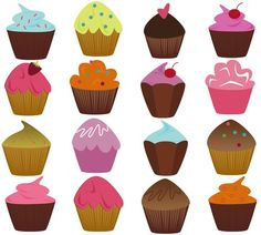 Cupcakes Photoshop Brushes - Commercial and Personal
