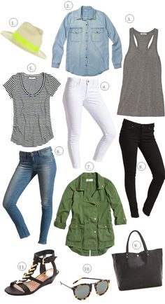 ask sarah: what are your closet staples? - a house in the hills - interiors, style, food, and dogs Vacation Wardrobe, New Wardrobe, Capsule Wardrobe, Wardrobe Basics, Summer Wardrobe, How To Have Style, Style Me, Summer Outfits, Casual Outfits