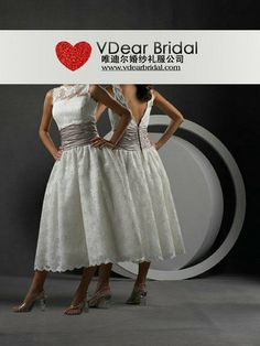 Bateau Natural Waist Pleated Tea Length Satin Ivory Wedding Dresses WD0695 Would look nice with a navy blue sash to tie in with Air Force theme.