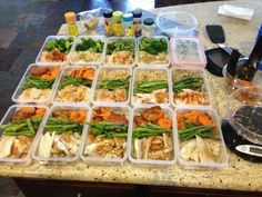 Portion control meals over several days