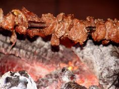 Espetadas are tender beef skewers which are a very traditional Portuguese dish, especially in the islands of Madeira.
