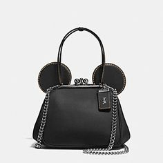 MICKEY KISSLOCK BAG IN GLOVETANNED LEATHER