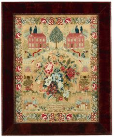 Rare Needlework Sampler, Elizabeth Garrison, Pittsgrove, Salem County, New Jersey, dated 1844 | Lot | Sotheby's