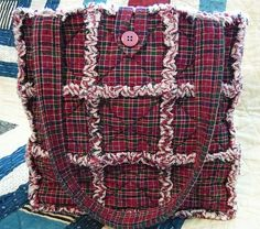 Pretty Plaid Rag Quilt Tote, Homespun Market Bag | Flickr - Photo Sharing!