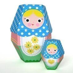 Daisy Matryoshka Nesting Doll Printable Paper Craft PDF. $3.00, via Etsy.