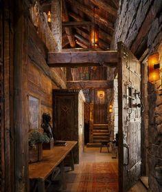 Interior Rock and Timber Design.