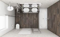 Moderná kúpeľňa MUSK - Pôdorys kúpeľne